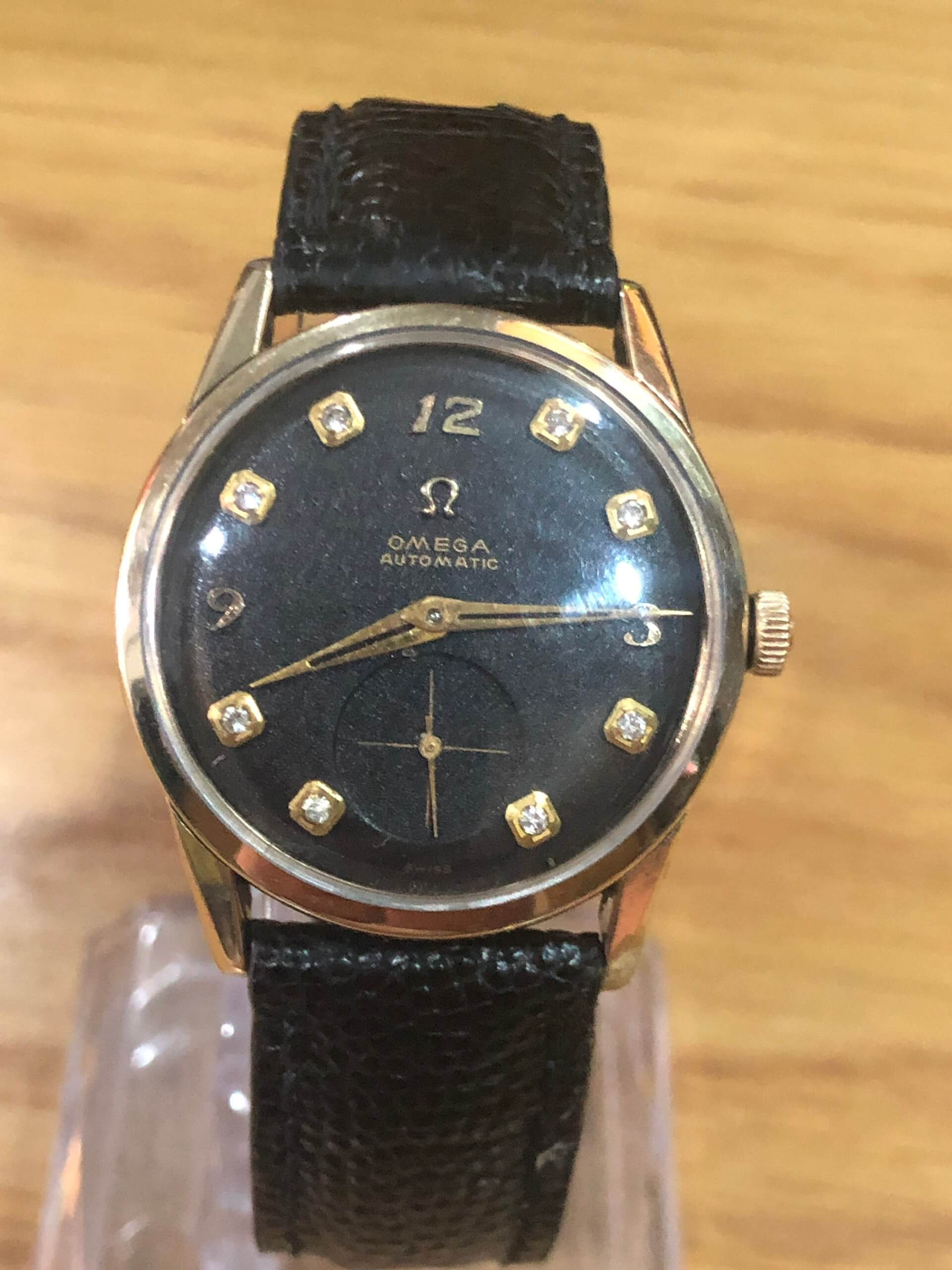 Omega Seamaster Bumper Automatic cal.342 in 1952 with Diamonds