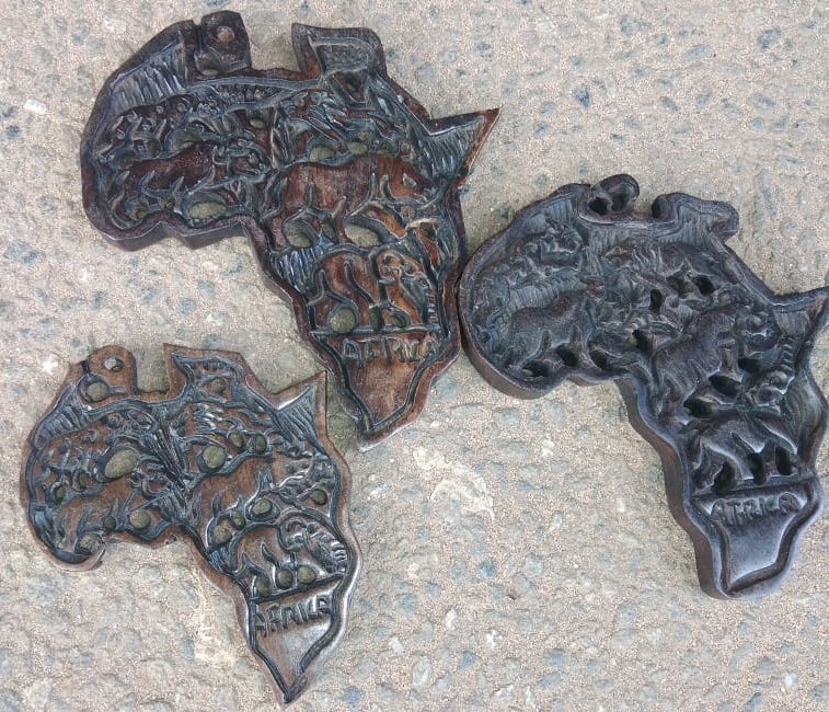 Wooden Carved Map of Africa