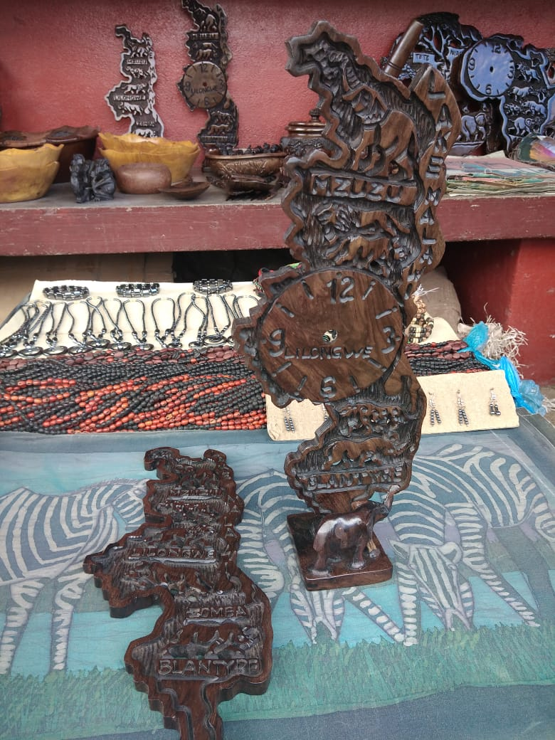 Wooden carved Map of Malawi